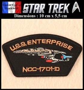 Ecusson-Brode-Thermocollant-NEUF-Patch-Embroidered-Star-Trek-USS-Enterprise