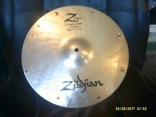 "zildjian z custom 14"" high hat bottom cymbal, sizzled and cracked"