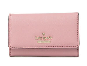 Kate-Spade-Cedar-Street-Jax-6-Key-Ring-Holder-Card-Case-Wallet-NWT-Pink