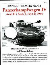 Panzer Tracts 4-3  German AFV book,Mk IV, ausf H&J 1943-45,    by Jentz & Doyle