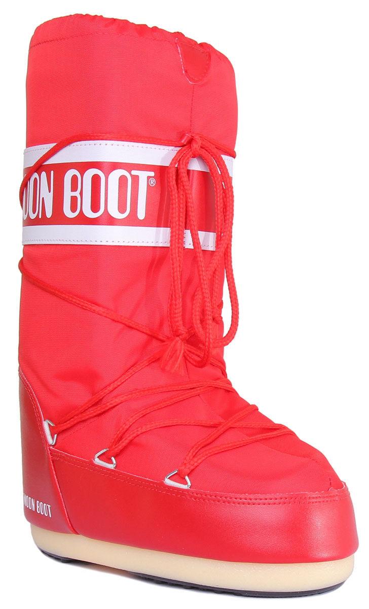Moon Boot Tecnica Nylon kvinnor kvinnor kvinnor röd Knee High Snow stövlar UK Storlek 3 - 8  bästa priser och färskaste stilar