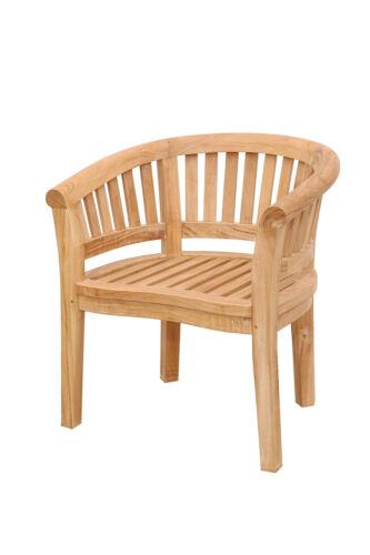 Windsor's Premium Grade A Teak Kensington 3pc Set, 2 Curved Arm Chairs & Table 793150346264