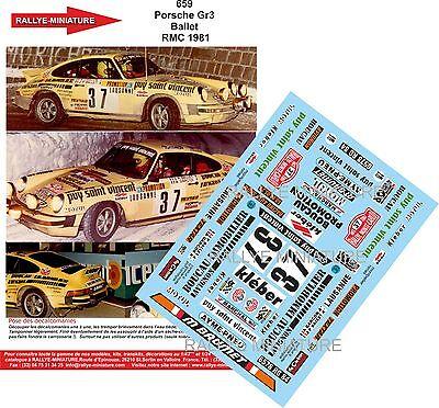 DECALS 1//32 REF 852 PORSCHE 911 CHOMAT RALLYE MONTE CARLO 1981 RALLY TOTAL WRC
