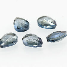 5pcs 17x13mm Faceted Teardrop Glass Crystal Loose Spacer Beads B503 clear