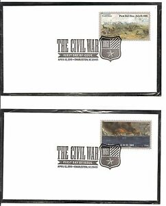 US-SC-4522-4523-The-Civil-War-First-Bull-Run-Fort-Sumter-FDC-Uncacheted