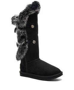 d1ec1b0ed5e AUSTRALIA LUXE Nordic Tall Winter Boots Women's Rabbit Fur Warm Snow ...