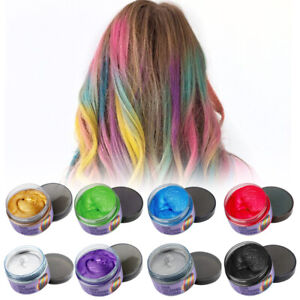 8 Colors Hair Color Wax Mud Dye Cream Unisex DIY Temporary Modeling Washable