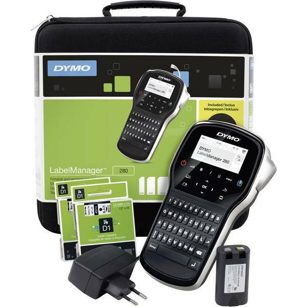 Beschouwend Dymo Labelmanager 280 Kit Etichettatrice Adatto Per Nastro D1 6 Mm 9 12