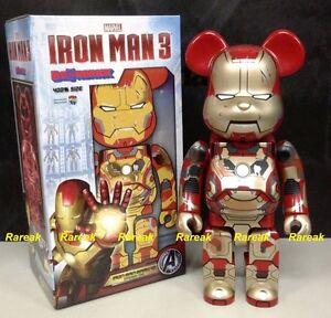 e91223bb Medicom Be@rbrick 2015 Marvel Iron Man 3 400% Mark XLII 42 Damage ...