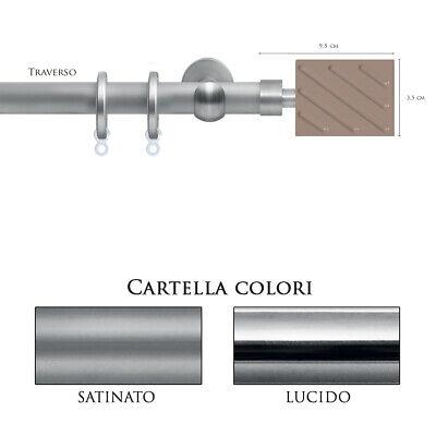 Doelstelling Scorritenda Bastone Per Tenda Alluminio Strappo Corda Con Anelli Traverso Vami 100% Garantie