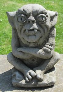 Attractive Image Is Loading Sitting Gremlin Gargoyle Garden Statue