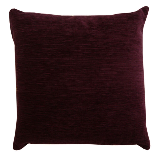 Luxury Heavyweight Plain Chenille Filled Cushions or Cushion Covers 18x18""