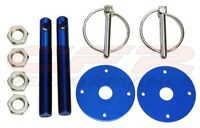 Blue Hood Pin Kit Flip-over Style For Mopar, Any Car Free Shipping