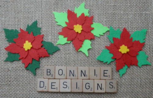 Feutres superposition Poinsettia die cuts Noël les décorations de fleurs appliques divers