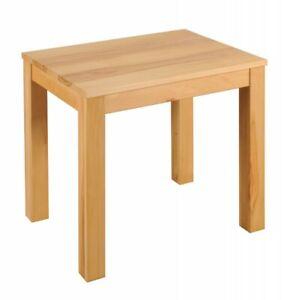 Details zu Massivholz Küchentisch 80x60cm Kernbuche geölt Esstisch kleiner  Esszimmer Tisch