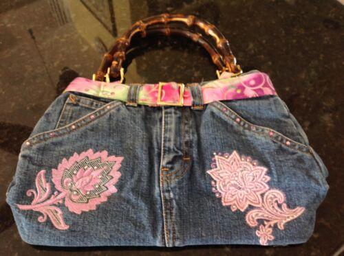 Vintage Geldbrse Bambusgriffen Mit Vintage Bambusgriffen Mit Jeans Jeans Mit Jeans Bambusgriffen Geldbrse Geldbrse Vintage 6xrwOP6