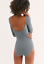 NEW Free People Intimately Seamless Low Back Bodysuit Carcoal Sz XS//S-M//L $75.98