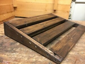 custom wood pedalboard ebay. Black Bedroom Furniture Sets. Home Design Ideas