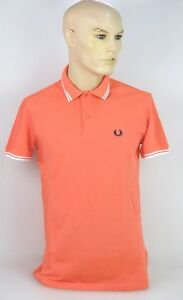 FRED-PERRY-MAN-POLO-SHIRTS-CASUAL-FREE-TIME-SHORT-SLEEVE-CARROT-CODE-30102263