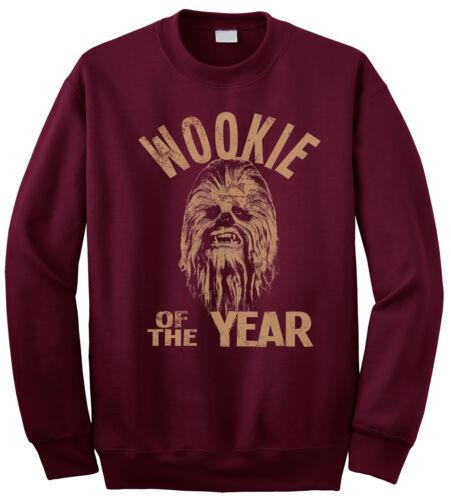 Wookie dell/' anno Star Wars Chewbacca ispirato da Uomo Pullover Felpa Chewie