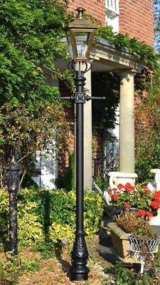 Heerlijk Used Ex-display 2.7m Brass Dorchester Lamp Post And Lantern Set Garden Lighting Mooi En Kleurrijk