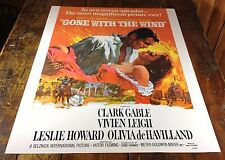 GONE WITH THE WIND CLASSIC CIVIL WAR OLD SOUTH MOVIE THEATER ADVERTISING POSTER