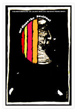 "Cuban decor Graphic Design movie Poster""Miidnight Passion MOON Art film.Deco"