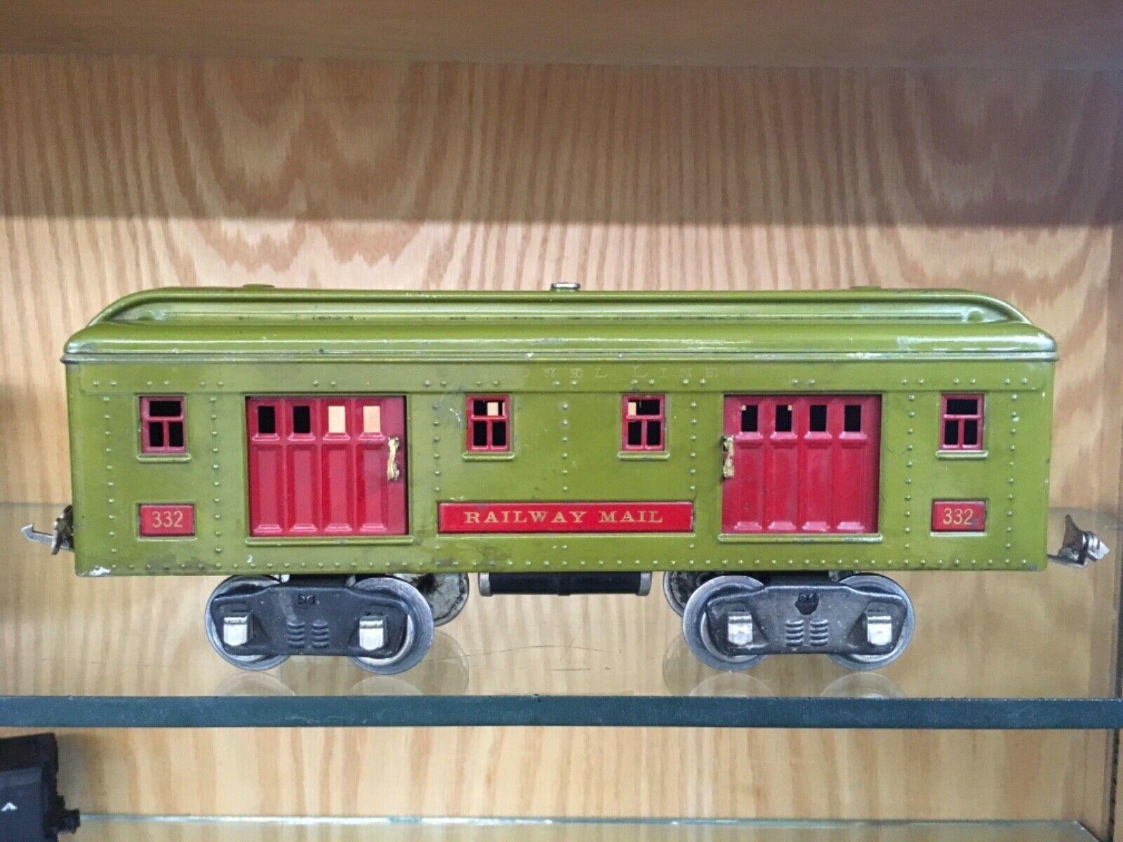 Lionel Lionel Lionel Steard Gauge 332 borsagage auto in Rare Olive verde c. 1926-8 - VG+ to EX 880ec0