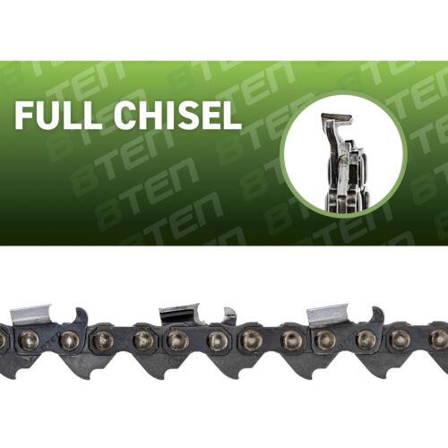 8TEN Chainsaw Chain Jonsered Husqvarna 18 Inch Bar .050 Gauge .325 72DL 3 Pack