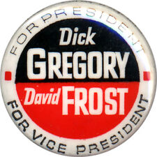 1968 Dick Gregory Mark Lane Campaign Button ~ Freedom /& Peace Party 1392