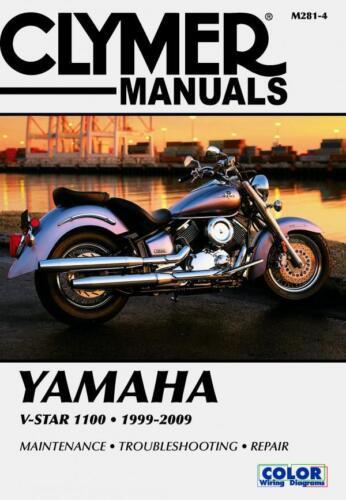 XVS110A Clymer M281-4 Service /& Repair Manual for 1999-09 Yamaha XVS1100