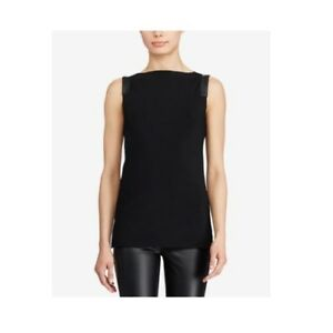 Ralph-Lauren-125-Straight-Fit-Sleeveless-Faux-Suede-Sweater-Polo-Black-Medium