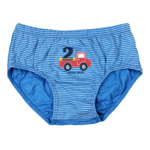 5PCS Kids Boys Cotton Briefs Cartoon Car Truck Underwear Panties Underpants US