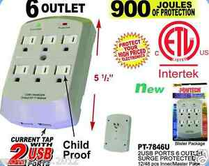 6-Outlet-Surge-Protector-Wall-Tap-w-2-USB-Ports-900-Joules