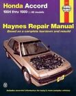 Honda Accord 1984-89 Owner's Workshop Manual by Colin Brown (Paperback, 1988)