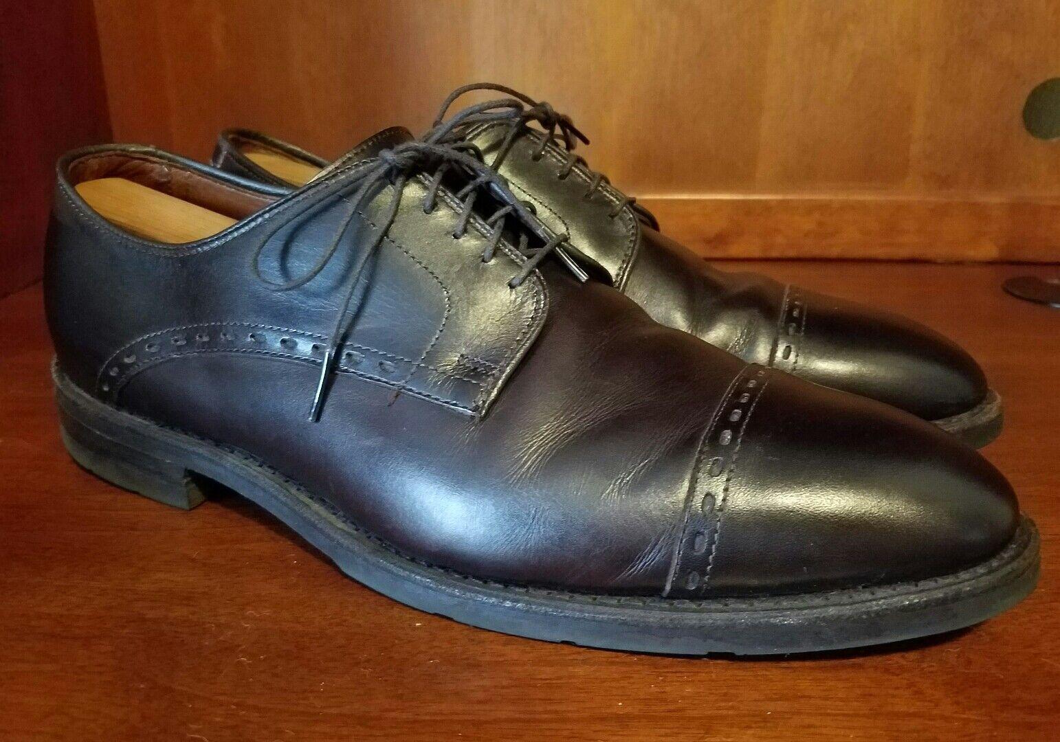 Men Allen Edmonds Madison Ave Brown Leather Oxford Captoe Dress shoes Sz 11.5 E