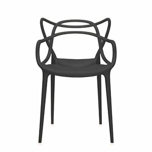 Wondrous Details About Kartell Original Masters Dining Chair Indoor Or Outdoor Arm Chairs Black Inzonedesignstudio Interior Chair Design Inzonedesignstudiocom
