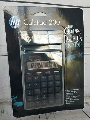 HP CALCPAD 200 COMPUTER CALCULATOR /& NUMERIC KEYPAD USB Solar Power