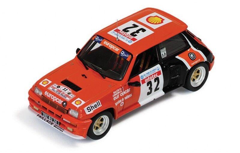 1 43 Renault 5 Turbo Europcar Rallye de France Tour de Corse 1986 C. BALESI