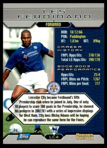 Topps Premier Gold 2004-Leicester les Ferdinand-LC4