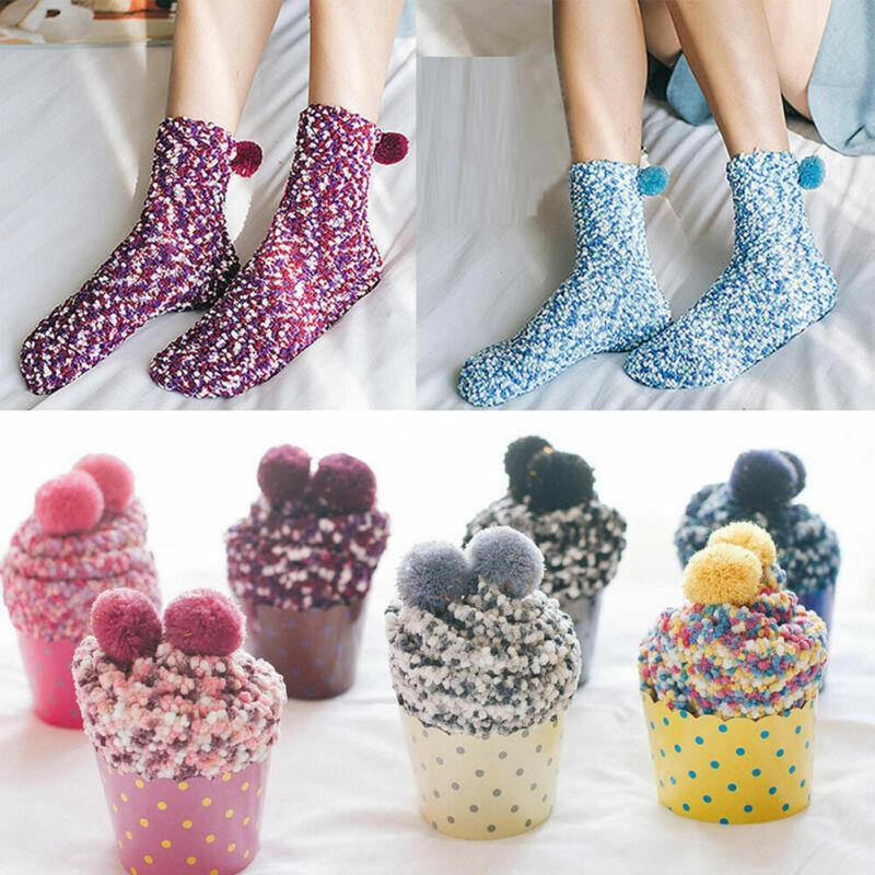 Weihnachten Damen Weich Flauschig Socken Warm Winter Bequem Lounge Bett Geschenk