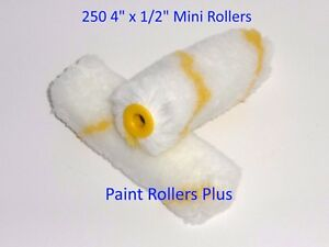 Mini-Paint-Rollers-250-4-034-Woven-Mini-Paint-Rollers