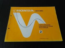 Honda CH 125 CH125 CH125e 1983 Teile-Katalog Parts List