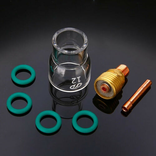 7pcs Torch TIG Welding Stubby Gas Lens #12 Pyrex Cup For WP-9//WP-20//WP-25 Kit
