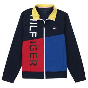 NWT Men/'s Tommy Hilfiger Fleece Sweater Jacket Hoodie Hooded Reg $150