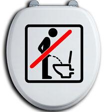 Im Sitzen pinkeln WC Deckel Toilettendeckel Bad Klo Aufkleber Sticker urinieren9