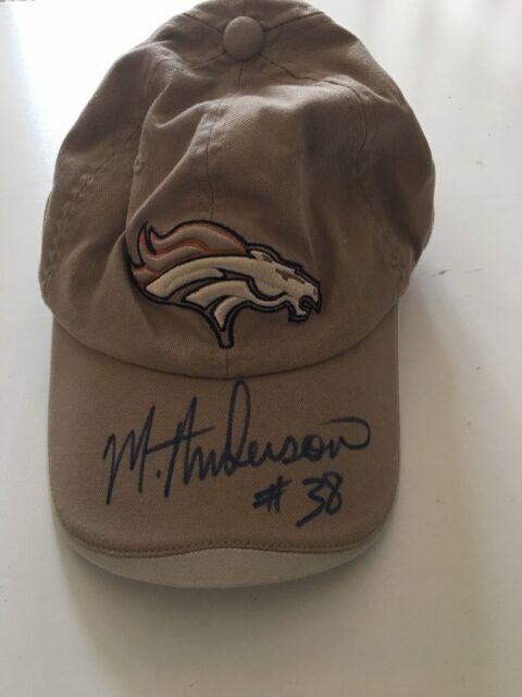 Denver Broncos Reebok NFL Authentic Sideline Hat New signed by  38 31faf4d5d1d