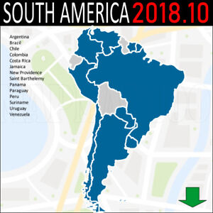 Map Of America Ebay.Details About South America Map 3d Gps 2018 10 For Garmin Devices Latest Map