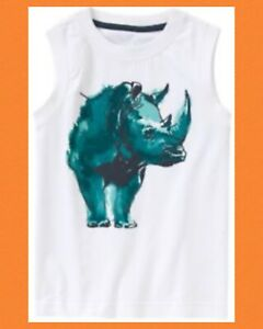 NWT Boy/'s Gymboree Hop n/' Roll rhino short sleeve shirt ~ 4 5 FREE SHIPPING