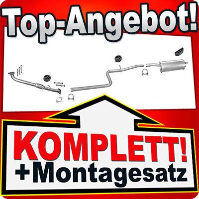Fiat Doblo//Cargo 1.3 1.9 D//JTD Auspuffanlage Auspuff Endtopf Mittelrohr Schelle